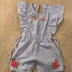 NWT Blue /White Stripe Toddler Jumper Size 2T